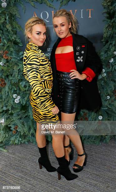 Tallia Storm and Tessie Hartmann attend the launch of The Nordic Winter Garden at Aquavit by McQueens on November 13 2017 in London England