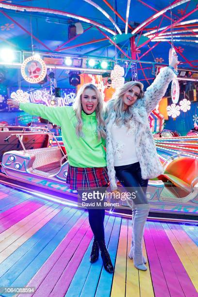 Tallia Storm and Victoria Brown attend the VIP preview night for Hyde Park Winter Wonderland on November 21 2018 in London England