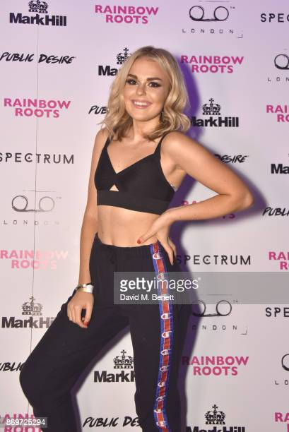 Tallia Storm arrives at Lottie Tomlinson's 'Rainbow Roots' book launch at Tape London on November 2 2017 in London England