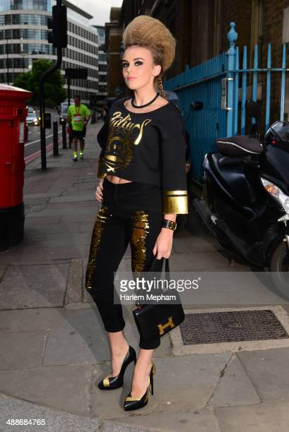 Tallia Storm arrives at Old Billingsgate for Gabrielle's Gala on May 7 2014 in London England