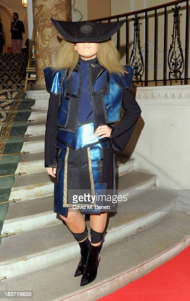 Tallia Storm arrives at the Scottish Fashion Invasion of London at the 8th Annual Scottish Fashion Awards 2013 at Dover House on October 9 2013 in...