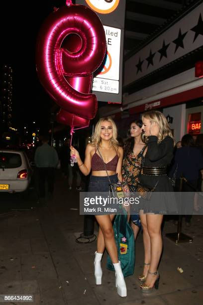 Tallia Storm attending her 19th Birthday Party at Bunga Bunga Covent Garden on October 25 2017 in London England