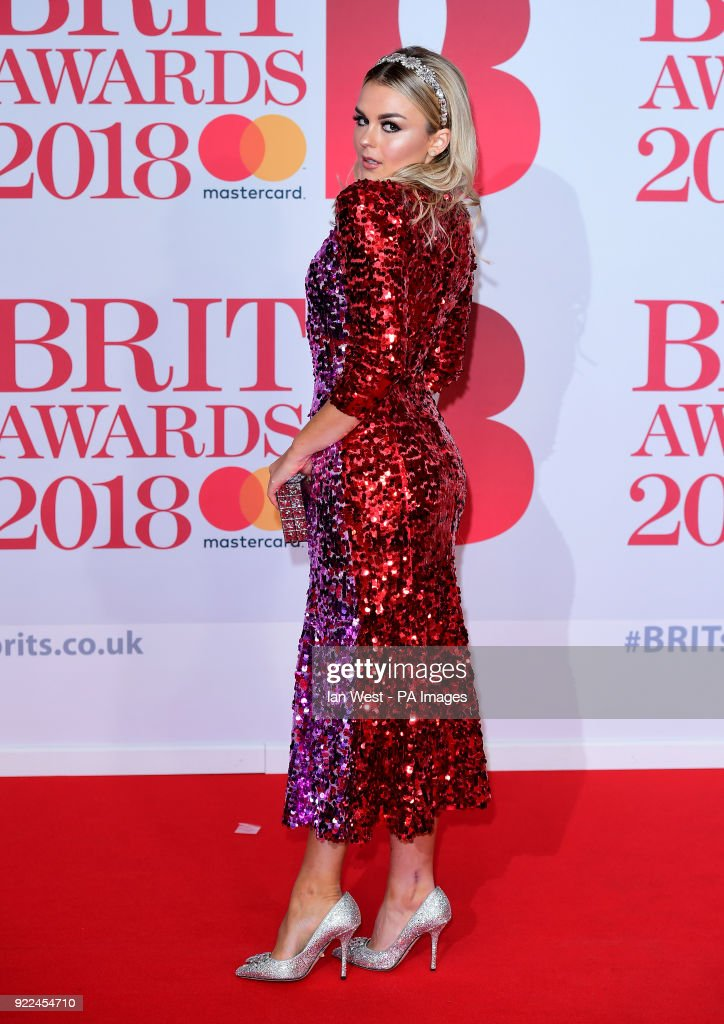 Tallia Storm attending the Brit Awards at the O2 Arena, London