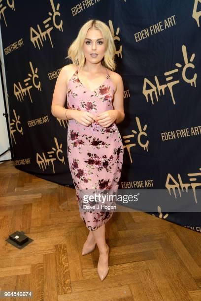 Tallia Storm attends Alec Monopoly's 'Breaking the Bank on Bond Street' exhibition launch party at the Eden Fine Art Gallery on May 31 2018 in London...