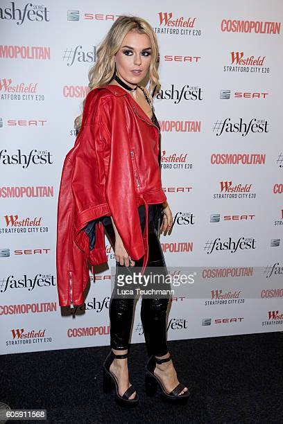 Tallia Storm attends Cosmopolitan #Fashfest 2016 VIP show and party at Old Billingsgate Market on September 15 2016 in London England