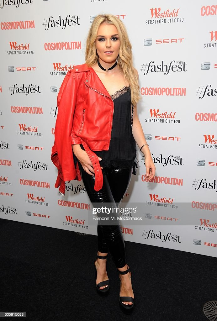 Tallia Storm attends Cosmopolitan #Fashfest 2016 VIP show and party at Old Billingsgate Market on September 15, 2016 in London, England.