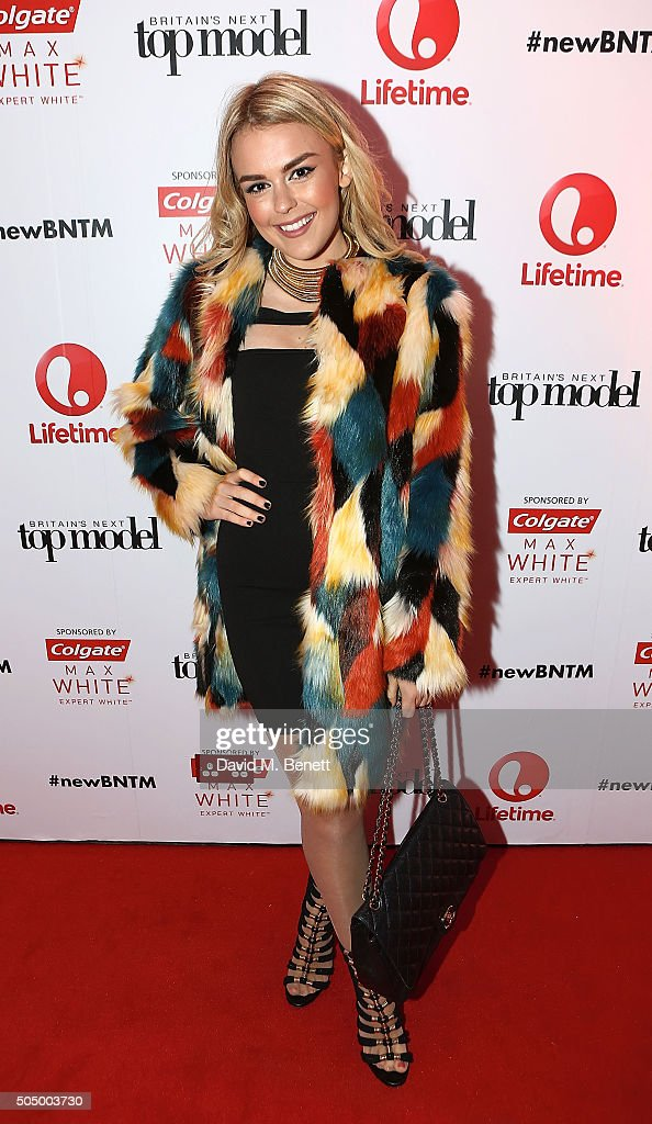 Tallia Storm attends Lifetime's launch of Britain's Next Top Model airing tonight at 9pm on Lifetime at Kensington Roof Gardens on January 14, 2016 in London, England.