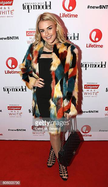 Tallia Storm attends Lifetime's launch of Britain's Next Top Model airing tonight at 9pm on Lifetime at Kensington Roof Gardens on January 14 2016 in...