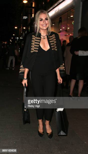 Tallia Storm attends Nasty Gal UK Pop Up Launch Party on Carnaby Street on November 1 2017 in London England