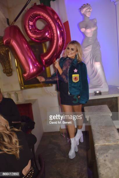 Tallia Storm attends Tallia Storm's 19th birthday party at Bunga Bunga on October 25 2017 in London England