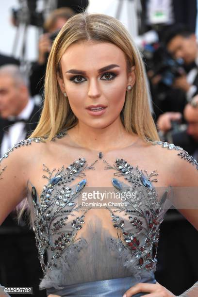 Tallia Storm attends the '120 Beats Per Minute ' screening during the 70th annual Cannes Film Festival at Palais des Festivals on May 20 2017 in...