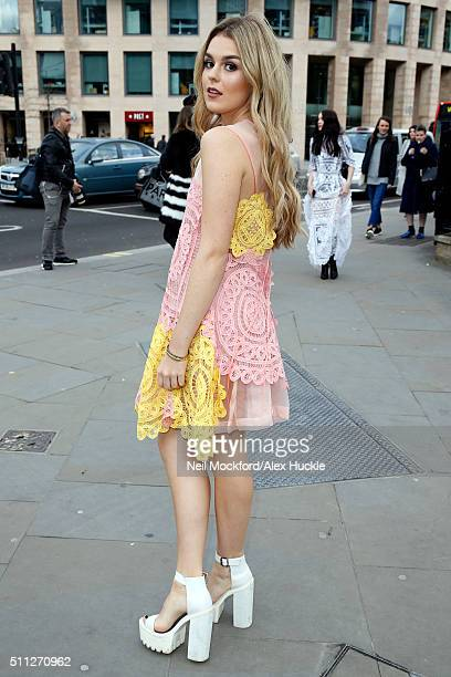 Tallia Storm attends the A/W 16 Bora Aksu Catwalk Show at St Andrew's Church on February 19 2016 in London England