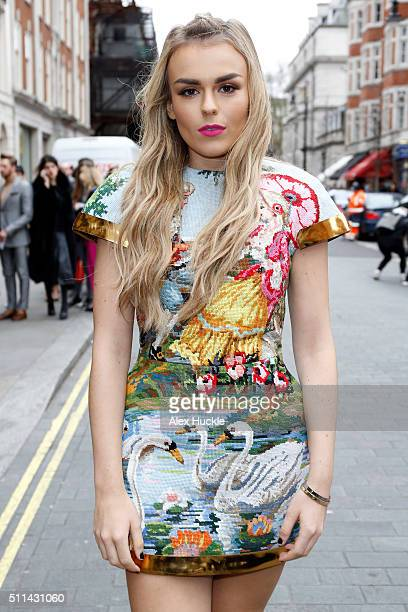 Tallia Storm attends the A/W 16 Julien MacDonald Catwalk Show at One Mayfair on February 20 2016 in London England