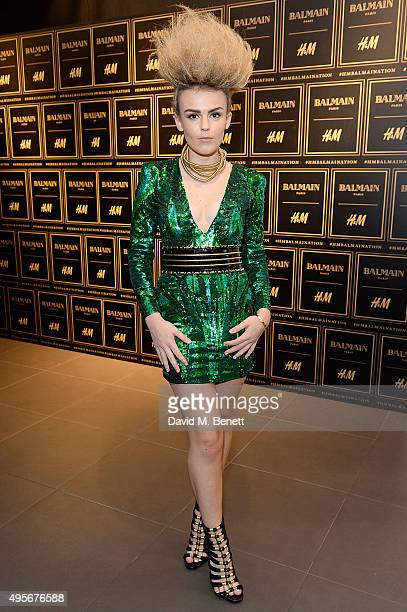 Tallia Storm attends the Balmain X HM Collection Launch Party on November 4 2015 in London England