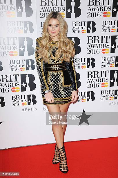 Tallia Storm attends the BRIT Awards 2016 at The O2 Arena on February 24 2016 in London England