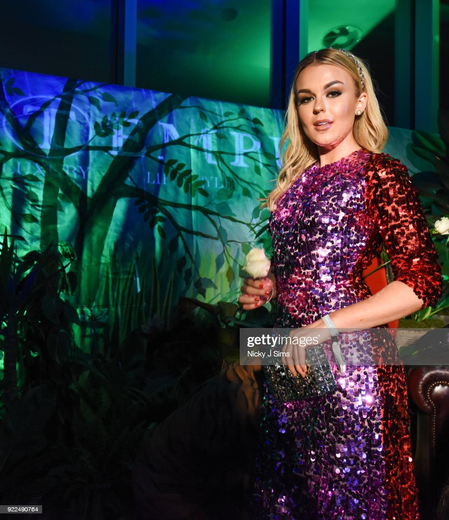 Tallia Storm attends The BRIT Awards 2018 after-party, hosted by Tempus magazine, at The Intercontinental Hotel, The o2, on February 21, 2018 in London, England.