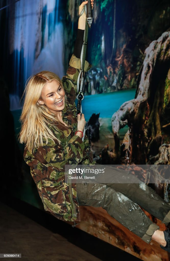 Tallia Storm attends the Celebrity Night of the 'Tomb Raider' Escape Room on March 8, 2018 in London, England.