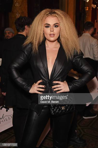 Tallia Storm attends the Ethical Designer Showcase featuring Oh Polly during London Fashion Week February 2020 at The Royal Horseguards on February...