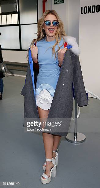 Tallia Storm attends the Eudon Choi show during London Fashion Week Autumn/Winter 2016/17 at on February 19 2016 in London England