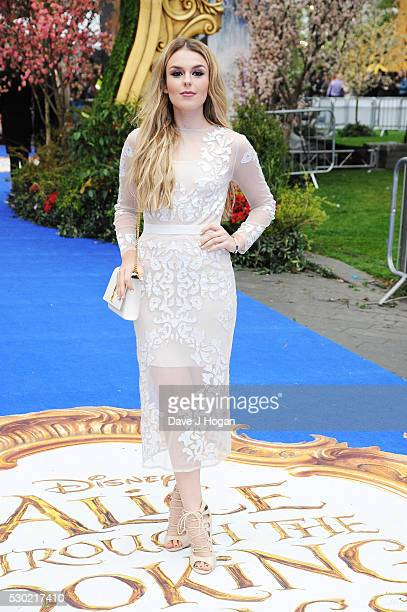 Tallia Storm attends the European Premiere of 'Alice Through The Looking Glass' at Odeon Leicester Square on May 10 2016 in London England