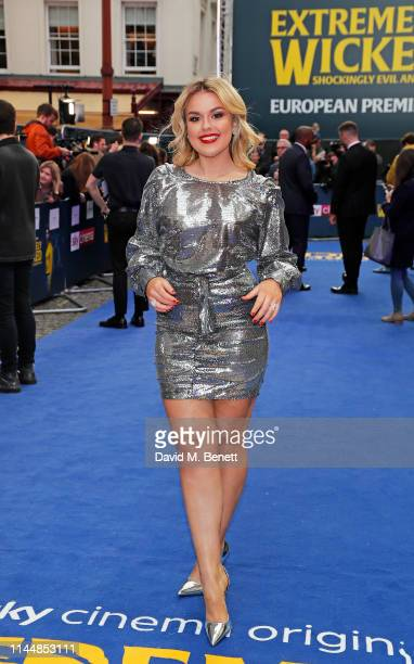 """Tallia Storm attends the European Premiere of """"Extremely Wicked, Shockingly Evil And Vile"""" at The Curzon Mayfair on April 24, 2019 in London, England."""