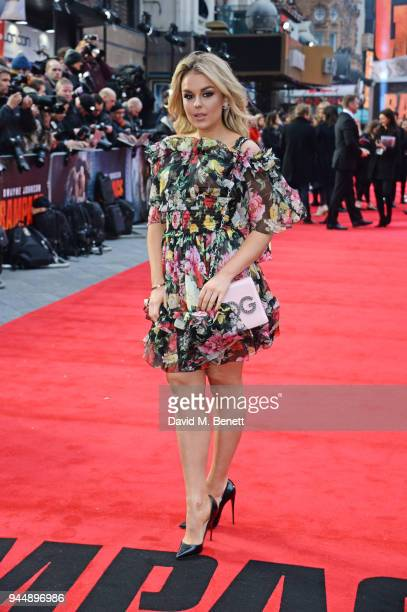 Tallia Storm attends the European Premiere of Rampage at Cineworld Leicester Square on April 11 2018 in London England