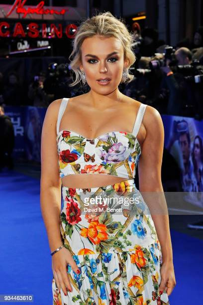Tallia Storm attends the European Premiere of 'Ready Player One' at the Vue West End on March 19 2018 in London England