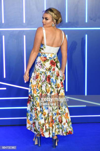 Tallia Storm attends the European Premiere of 'Ready Player One' at Vue West End on March 19 2018 in London England
