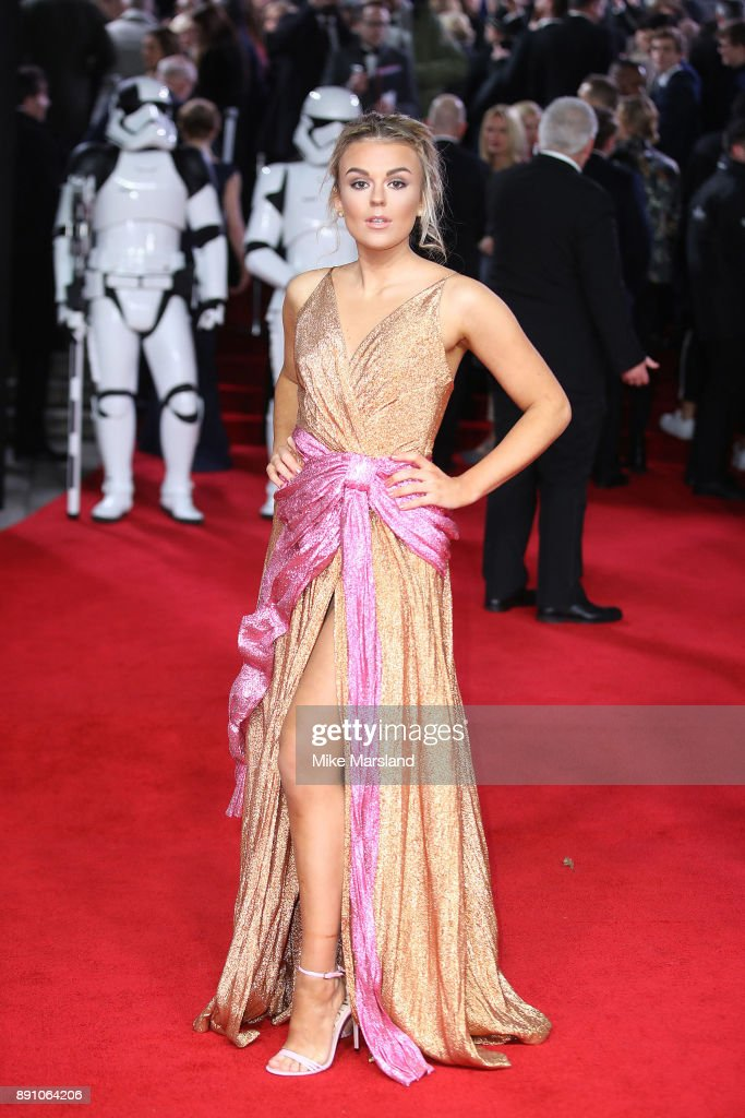 Tallia Storm attends the European Premiere of 'Star Wars: The Last Jedi' at Royal Albert Hall on December 12, 2017 in London, England.
