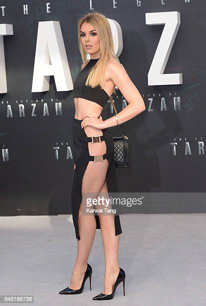 Tallia Storm attends the European premiere of 'The Legend Of Tarzan' at Odeon Leicester Square on July 5 2016 in London England
