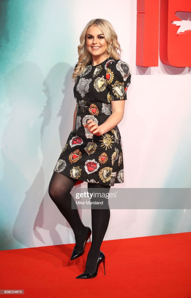 Tallia Storm attends the European premiere of 'Tomb Raider' at Vue West End on March 6, 2018 in London, England.
