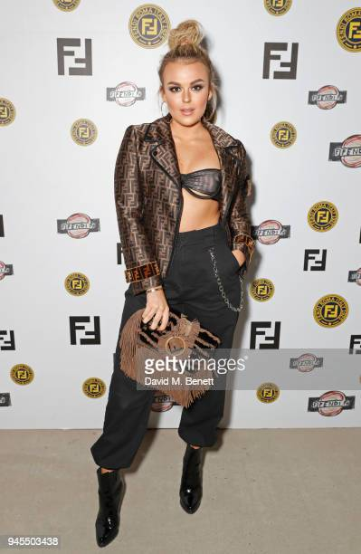 Tallia Storm attends the FENDI FF Reloaded Experience on April 12 2018 in London England