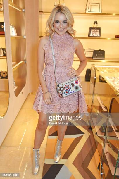 Tallia Storm attends the FENDI Sloane Street boutique opening on December 14 2017 in London England