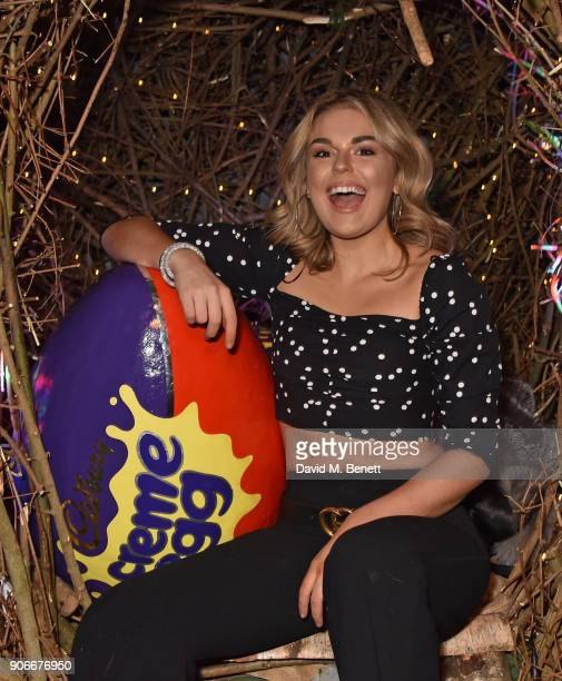 Tallia Storm attends the Grand Opening of the Cadbury Creme Egg Camp on January 18 2018 in London England