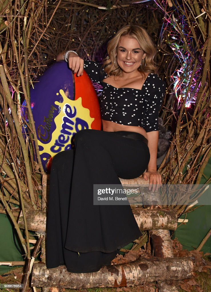 Tallia Storm attends the Grand Opening of the Cadbury Creme Egg Camp on January 18, 2018 in London, England.