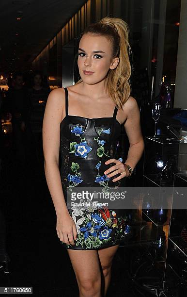Tallia Storm attends the JF London Presentation and Party during London Fashion Week Autumn/Winter 2016/17 at W London Leicester Square on February...