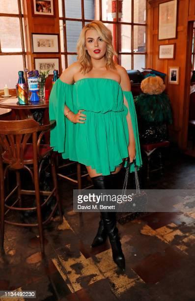 Tallia Storm attends the Kurt Geiger x Julia Hobbs WaterAid charity pub quiz on April 2 2019 in London England