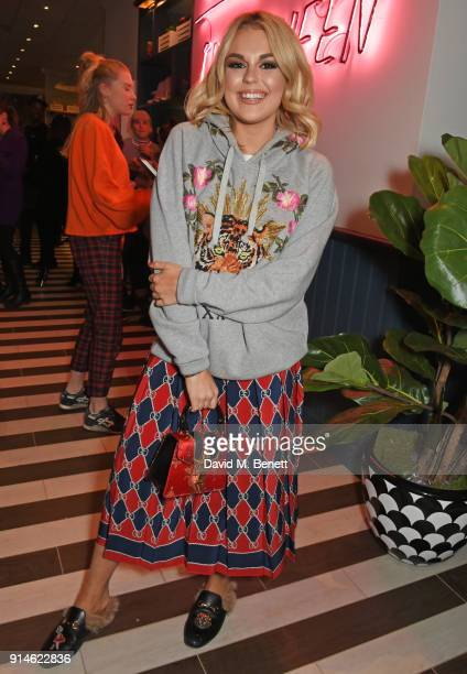 Tallia Storm attends the launch of new restaurant 'by CHLOE' in Covent Garden on February 5 2018 in London England
