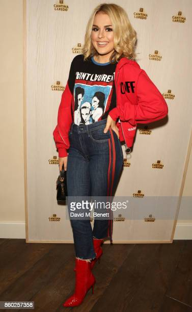 Tallia Storm attends the launch of The Great Eight Guacamoles London's first Guacamoles and Tequila Bar at Cantina Laredo on October 11 2017 in...