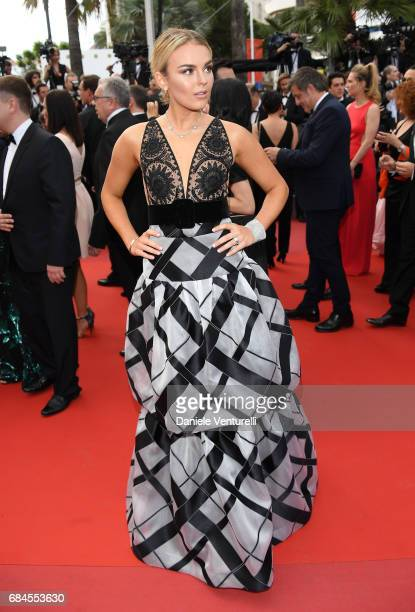 Tallia Storm attends the 'Loveless ' screening during the 70th annual Cannes Film Festival at Palais des Festivals on May 18 2017 in Cannes France