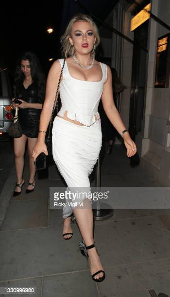 Tallia Storm attends the opening of 'Park Row', a unique new restaurant inspired by the DC Universe in collaboration with Warner Bros. Themed...