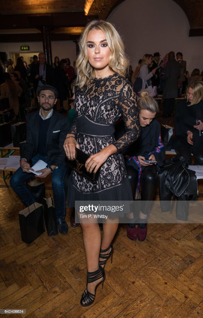 Tallia Storm attends the PPQ show during London Fashion Week February 2017 collections at Crypt on the Green on February 17, 2017 in London, England.