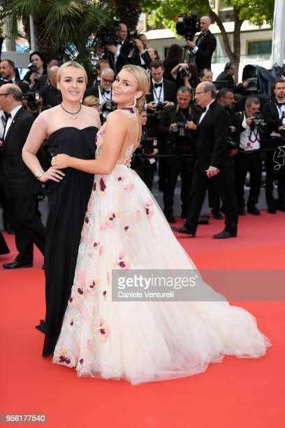 Tallia Storm attends the screening of Everybody Knows and the opening gala during the 71st annual Cannes Film Festival at Palais des Festivals on May...