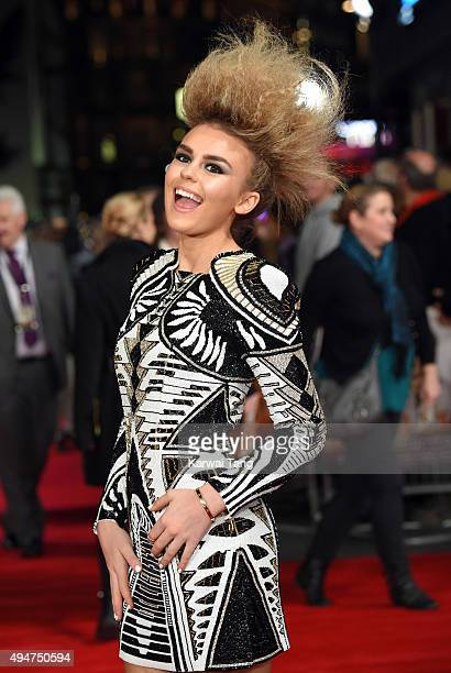 Tallia Storm attends the UK Film Premiere of 'Burnt' at Vue West End on October 28, 2015 in London, England.