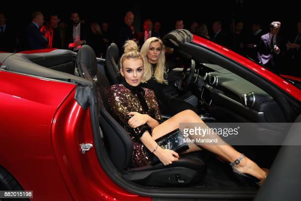 Tallia Storm attends the UK launch event for the new Ferrari Portofino at Kensington Olympia on November 29 2017 in London England