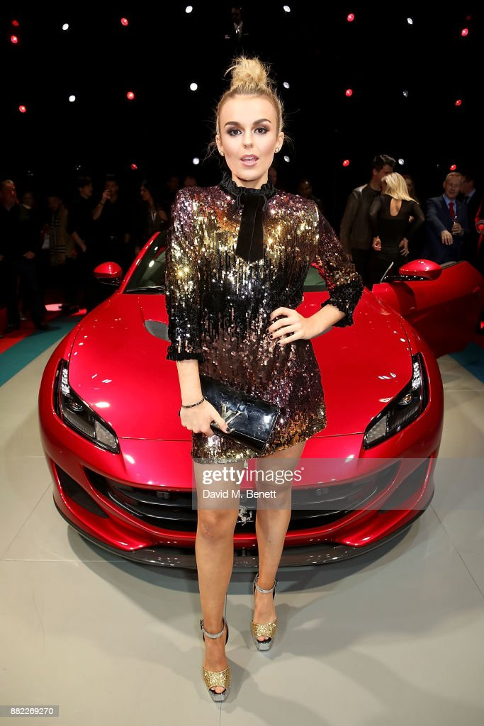 Tallia Storm attends the UK launch of the Ferrari Portofino at Kensington Olympia on November 29, 2017 in London, England.
