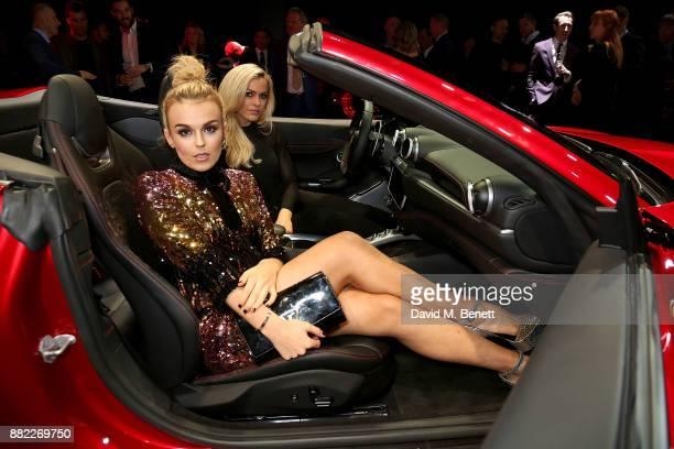 Tallia Storm attends the UK launch of the Ferrari Portofino at Kensington Olympia on November 29 2017 in London England