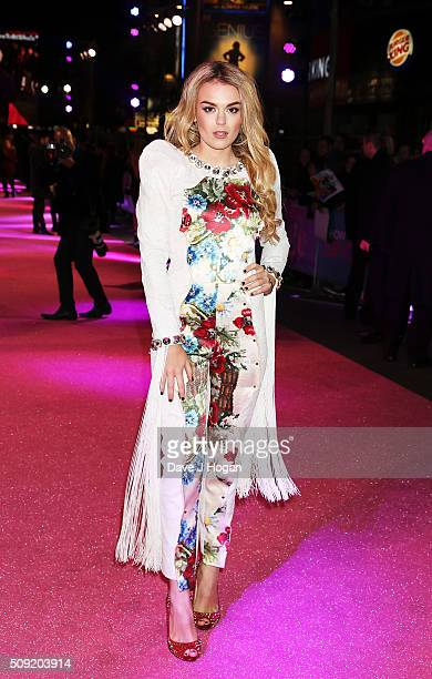 Tallia Storm attends the UK Premiere of 'How To Be Single' at Vue West End on February 9 2016 in London England