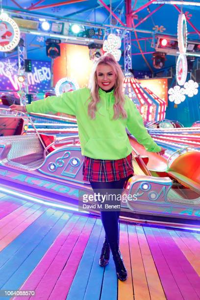 Tallia Storm attends the VIP preview night for Hyde Park Winter Wonderland on November 21 2018 in London England