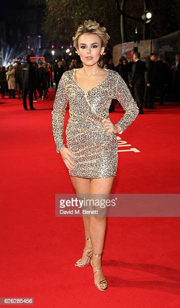 Tallia Storm attends the World Premiere of 'I Am Bolt' at Odeon Leicester Square on November 28 2016 in London England